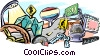 Vector Clip Art image  of a road travel