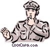 Vector Clipart graphic  of a old-fashioned traffic cop
