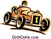 racecar Vector Clipart illustration