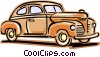 Vector Clip Art picture  of a 1940's auto