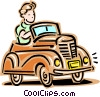 Vector Clip Art picture  of an automobile