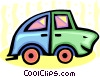 cartoon automobile Vector Clip Art image