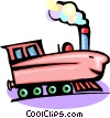 cartoon train Vector Clip Art picture