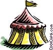 Vector Clipart picture  of a tent