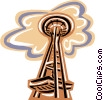 Vector Clipart image  of a Seattle Space Needle