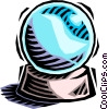 Vector Clip Art picture  of a crystal ball