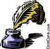 Vector Clip Art graphic  of a ink well