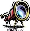 Vector Clipart illustration  of a telescope