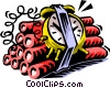 Vector Clipart graphic  of a dynamite