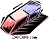Vector Clip Art graphic  of a rubber eraser