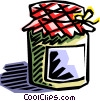 Vector Clipart graphic  of a home preserves