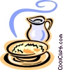 hot porridge Vector Clipart picture