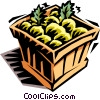 case of fruit Vector Clipart picture