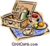 Picnic basket Vector Clipart illustration