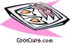 Vector Clip Art image  of a bacon and eggs