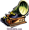Vector Clipart illustration  of a gramophone