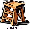 Vector Clip Art image  of a Step stool