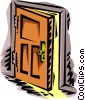 Vector Clip Art image  of a door ajar