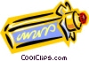Vector Clip Art image  of a capped tube