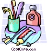 Vector Clipart graphic  of a toiletries
