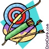 Vector Clipart illustration  of an archery