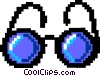 Vector Clip Art graphic  of a eye glasses - symbol