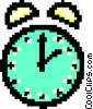 Vector Clip Art image  of an alarm clock - symbol