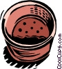 Vector Clip Art image  of a waste basket