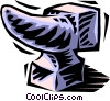 Vector Clip Art picture  of an anvil
