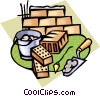 Vector Clip Art graphic  of a bricklayer tools