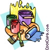 Vector Clipart graphic  of a painter supplies