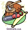 Vector Clip Art image  of a logging tools