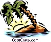 Vector Clip Art graphic  of a tropical island