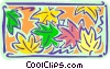 Vector Clipart picture  of a Leaves - abstract