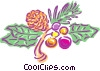 Pinecone and berries Vector Clipart graphic