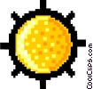 Vector Clipart graphic  of a sun- symbol