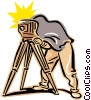 old-fashioned photographer Vector Clipart illustration