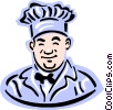 Vector Clip Art graphic  of a old-fashioned baker