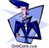 greaser man - abstract Vector Clip Art picture