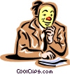 Vector Clipart illustration  of a office clown