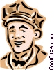 Vector Clip Art image  of a Old-fashioned attendant