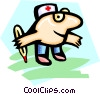 nurse - cartoon Vector Clipart graphic