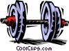 Vector Clipart picture  of a dumbbell/weightlifting