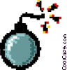 Vector Clip Art picture  of a bomb - symbol