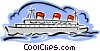 Vector Clipart graphic  of a ocean liner