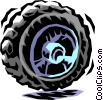 Vector Clip Art image  of a tire