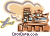 Vector Clip Art graphic  of an airport