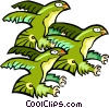 Vector Clip Art image  of a eagles