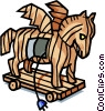 Vector Clipart graphic  of a Trojan horse
