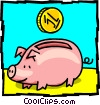 piggy bank Vector Clip Art graphic
